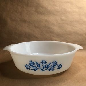 Fire King Cornflower Blue Casserole Dish 2…